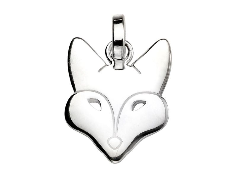 Product standard p4492   fourth avenue   our silver fox head pendants   silver