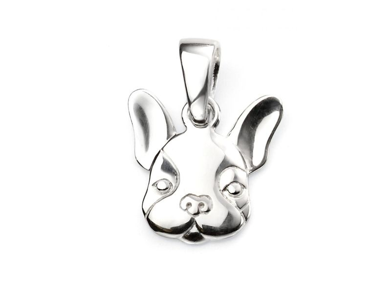 Product standard p4584   fourth avenue   our silver french bulldog pendants   silver