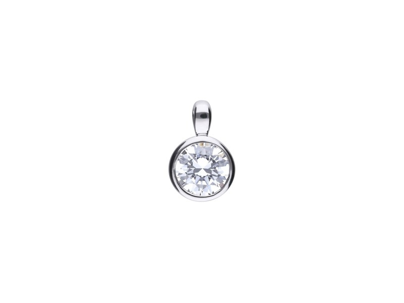 Product standard p4643   fourth avenue   our silver   cz rub over solitare pendants   silver