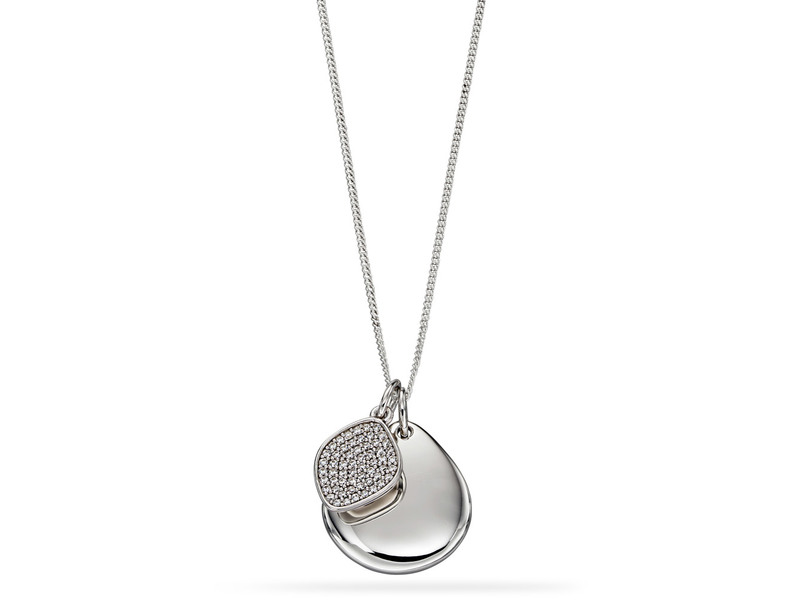 Product standard p4682c   fourth avenue   our silver   cz pave pebble pendants   silver