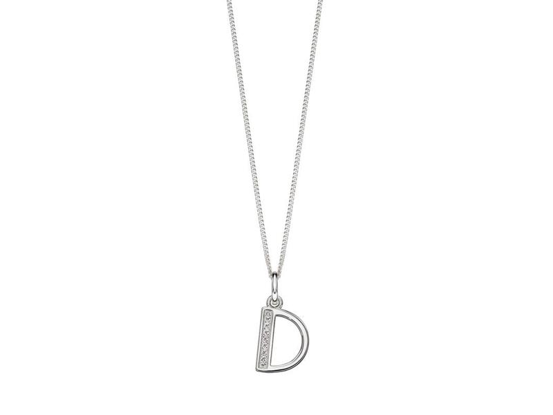 Product standard p4726c   fourth avenue   our silver   cz d pendants %2b chain   silver
