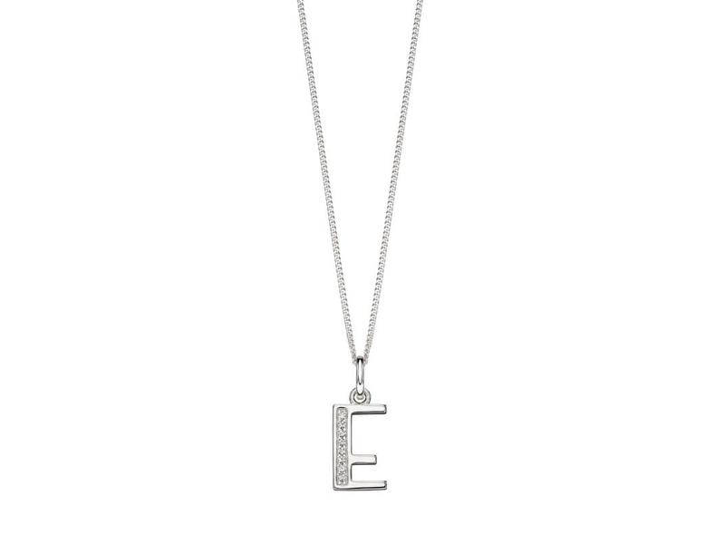 Product standard p4727c   fourth avenue   our silver   cz e pendants %2b chain   silver