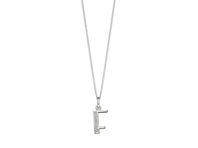 Product standard p4728c   fourth avenue   our silver   cz f pendants %2b chain   silver