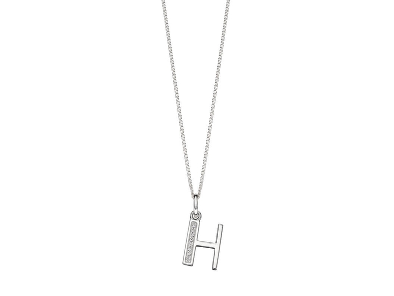 Product standard p4730c   fourth avenue   our silver   cz h pendants %2b chain   silver