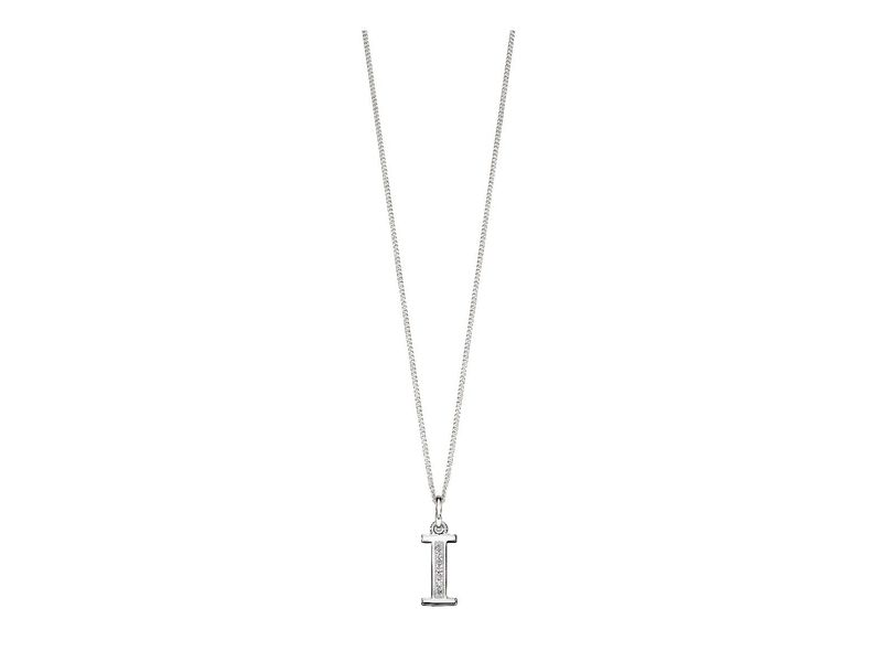 Product standard p4731c   fourth avenue   our silver   cz i pendants %2b chain   silver