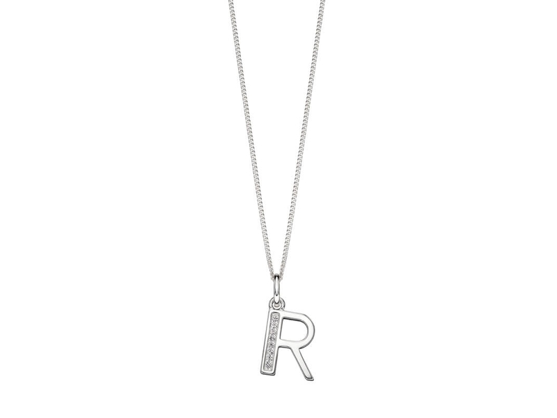 Product standard p4740c   fourth avenue   our silver   cz r pendants %2b chain   silver