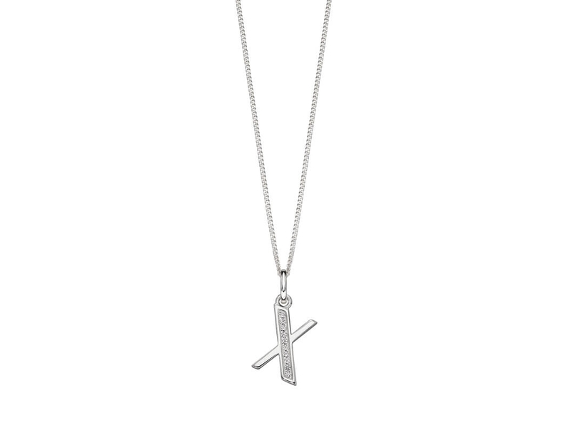 Product standard p4746c   fourth avenue   our silver   cz x pendants %2b chain   silver