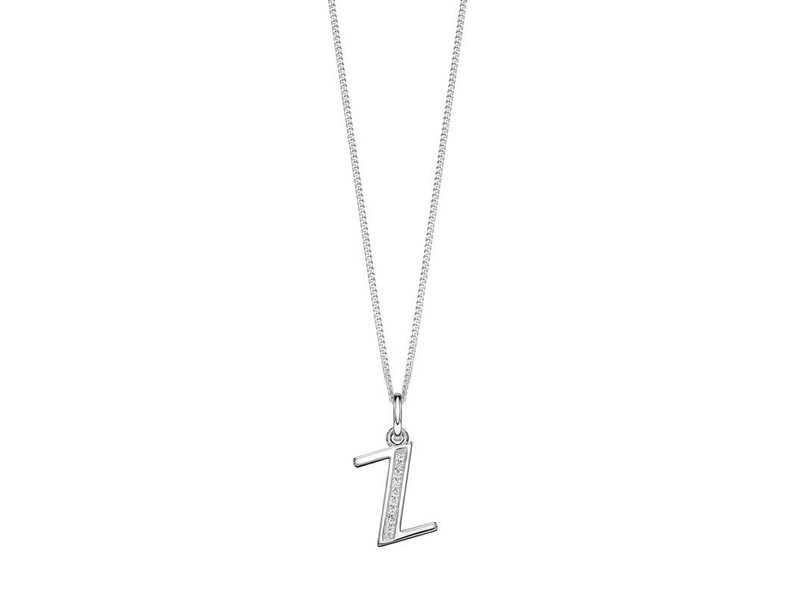 Product standard p4748c   fourth avenue   our silver   cz z pendants %2b chain   silver