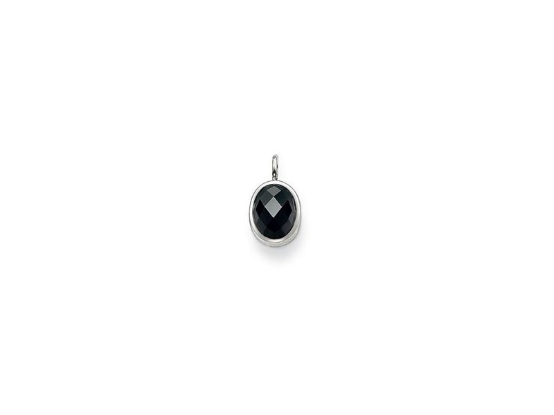 Product standard pe427 051 11   thomas sabo   ts black cz oval pendants    silver   4051245042467