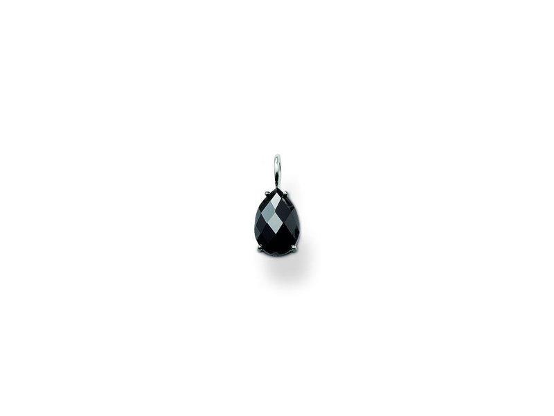 Product standard pe523 051 11   thomas sabo   ts black cz drop pendants    silver   4051245055207