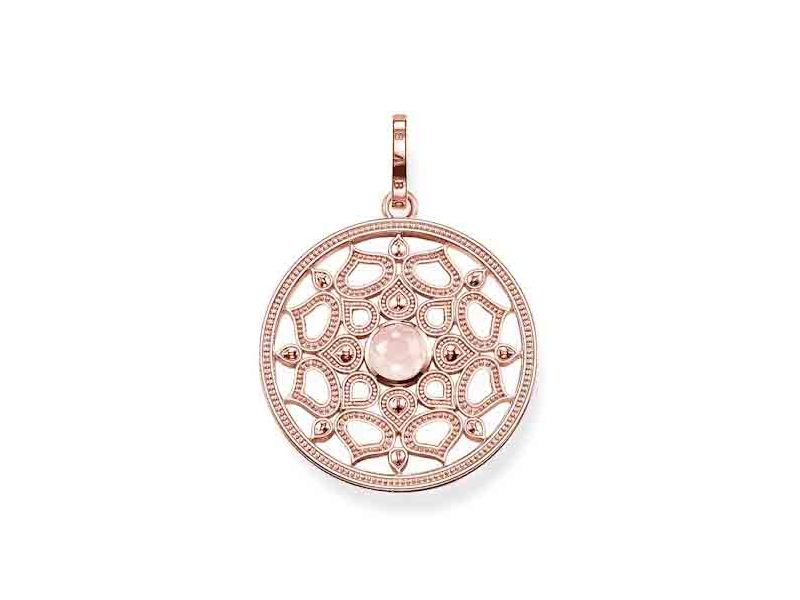Product standard pe690 536 9   thomas sabo   ts rose gold   quartz disk pendants    rose gold