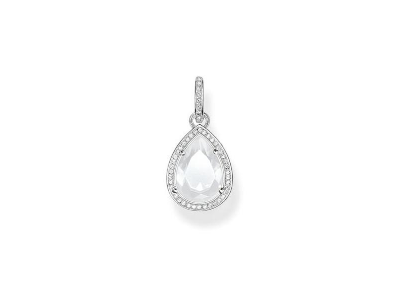 Product standard pe696 690 14   thomas sabo   ts silver   white cz drop pendants    silver