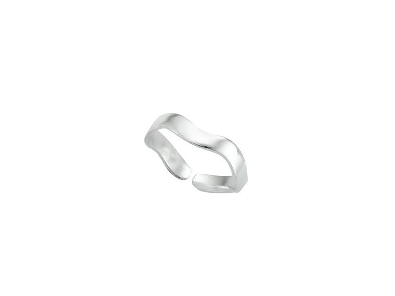 Product standard r2849   fourth avenue   our silver wavy band toe ring   silver   5055067183710