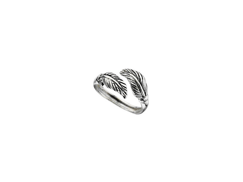 Product standard r3156   fourth avenue   our solver double leaf toe ring   silver   5055067184526