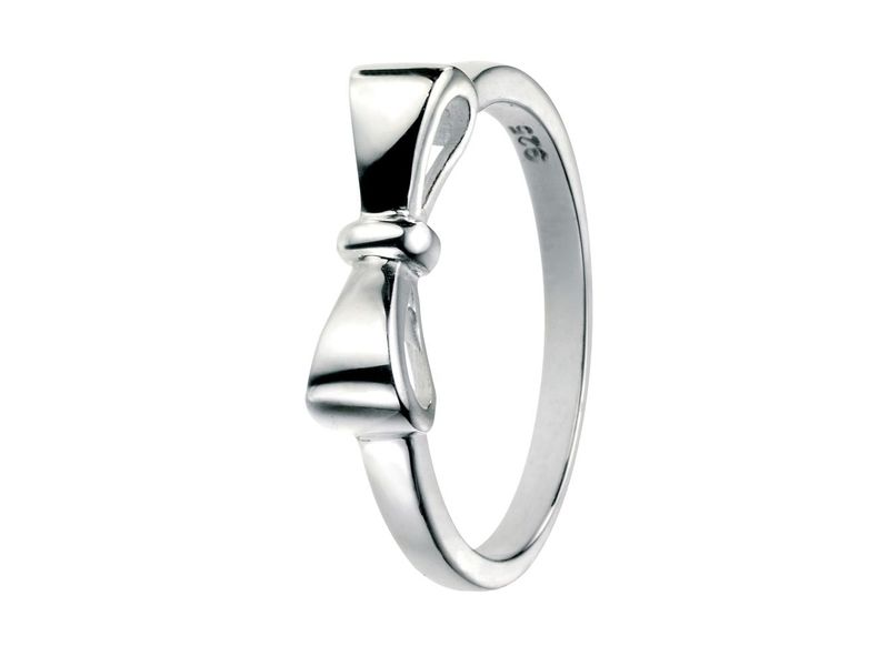 Product standard r3453   fourth avenue   our silver plain bow ring    silver