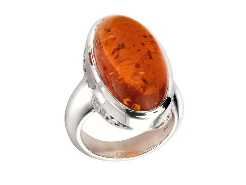 Product standard r3531r   fourth avenue   our silver   oval amber ring   silver