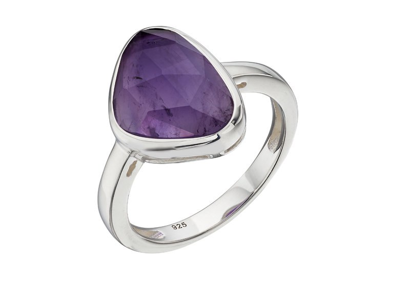 Product standard r3682m   fourth avenue   our silver   faceted amethyst ring   silver