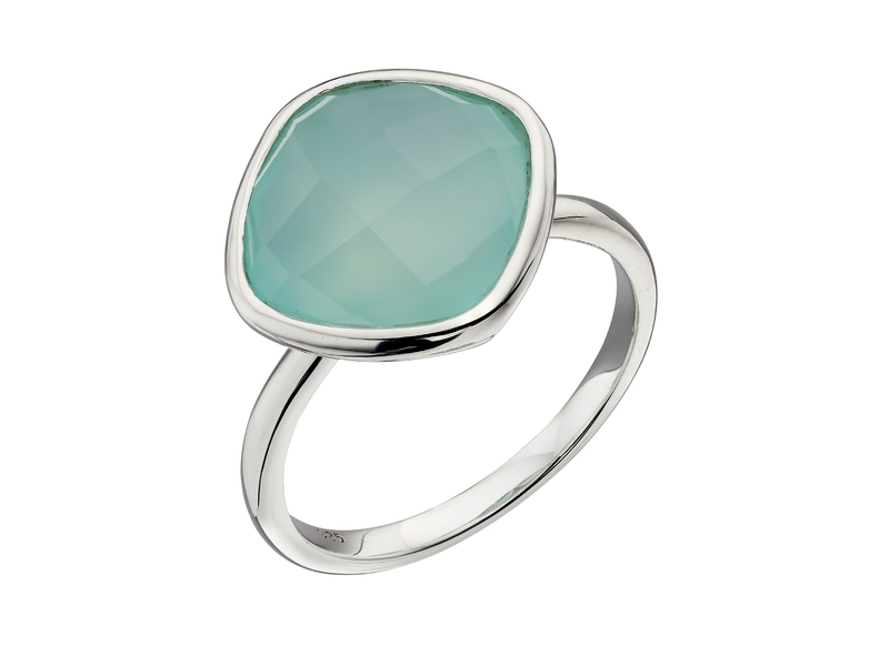 Product standard r3683t   fourth avenue   our silver   faceted aqua chalcedony ring   silver