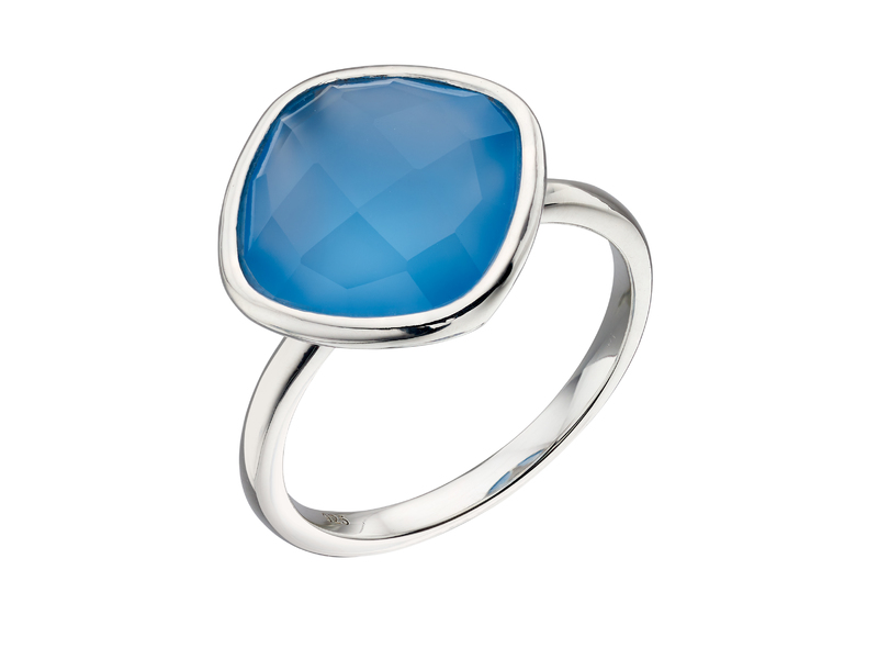 Product standard r3684t   fourth avenue   our silver   faceted blue chalcedony ring   silver
