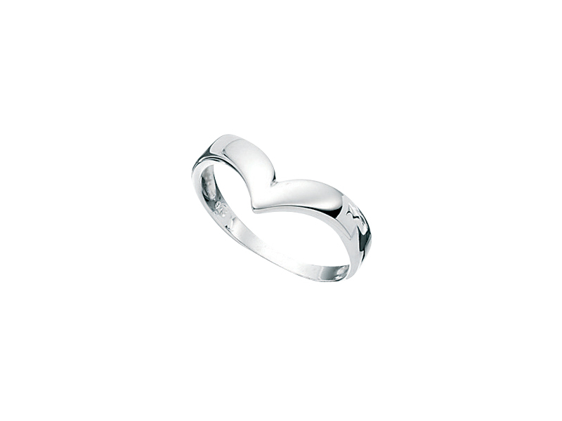 Product standard r845   fourth avenue   our silver plain wishbone ring    silver   5055067105361