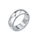 Fourth Avenue Silver Solid Band Ring