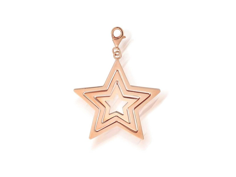 Product standard rp852   fourth avenue   rose gold plated tripple star pendants   rose gold