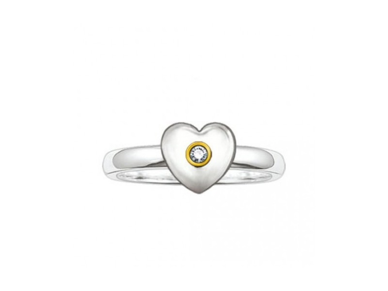Product standard sd tr0004 179 14 52   thomas sabo   ts silver   gold heart ring    silver   4051245050554