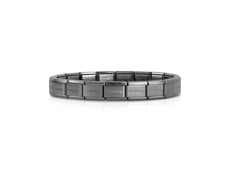 Product standard single black   nomination italy   composable black links   stainless steel