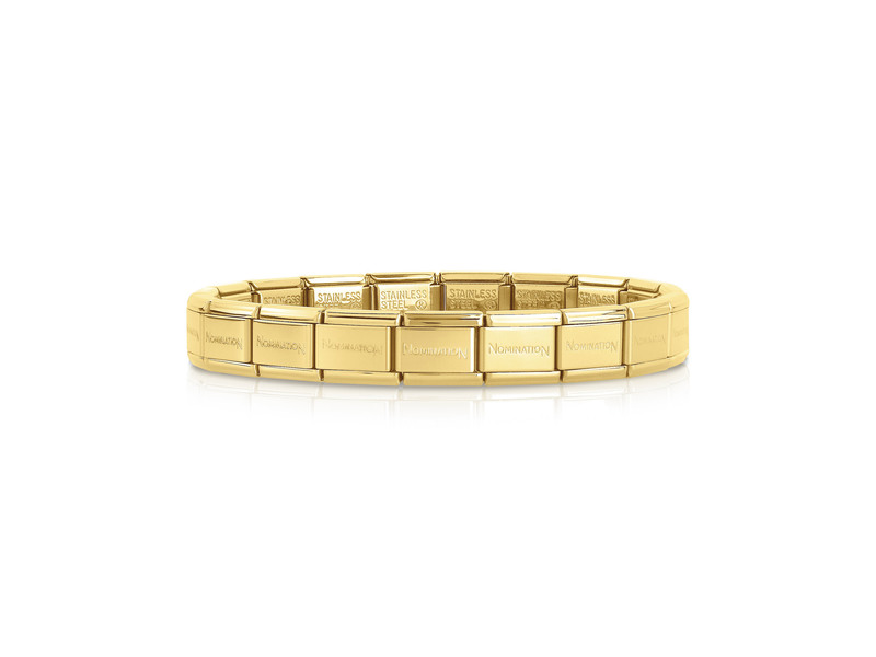 Product standard single yellow   nomination italy   composable gold links   stainless steel