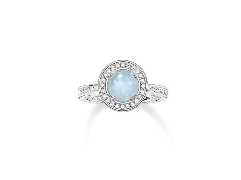 Product standard tr1971 694 31 54   thomas sabo   ts silver   cz blue solitaire ring   silver