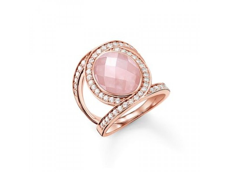 Product standard tr2015 537 9 54   thomas sabo   ts rose gold   cz pink love knot ring    rose gold   4051245131024