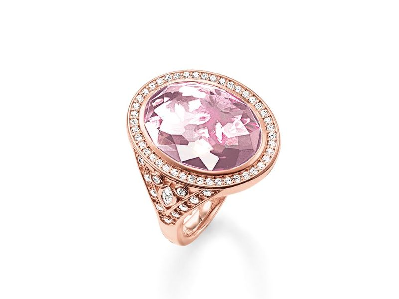 Product standard tr2022 633 9 54   thomas sabo   ts rose gold   cz pink eternity of love ring    rose gold   4051245131932