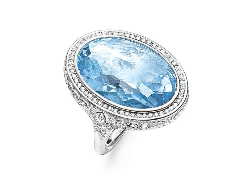 Product standard tr2023 644 1 54   thomas sabo   ts silver   cz large blue cocktail ring    silver   4051245132144