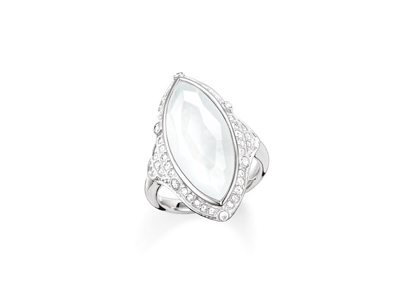 Product standard tr2041 690 14 54   thomas sabo   ts silver   cz marquise ring    silver