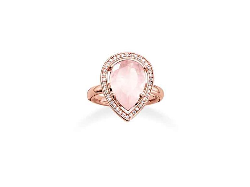 Product standard tr2043 537 9 54   thomas sabo   ts rose gold   cz  pink pear cocktail ring   rose gold