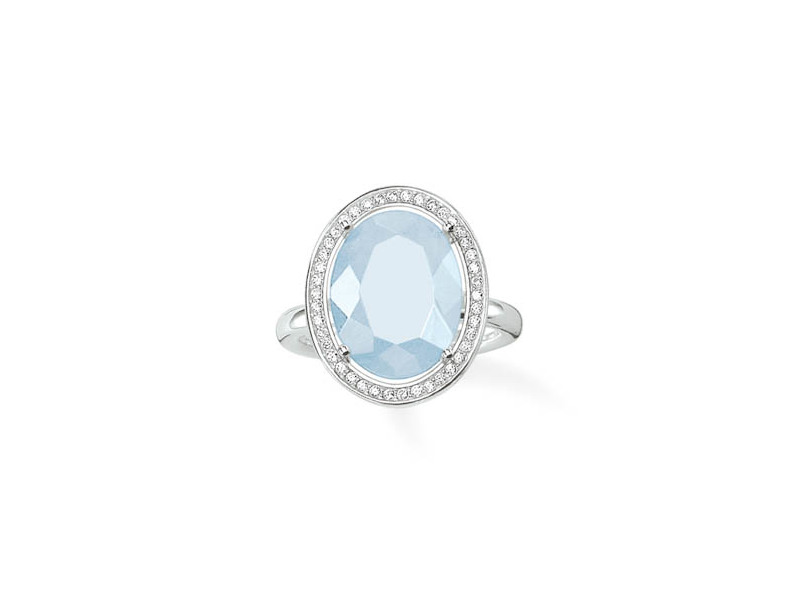 Product standard tr2044 694 31 54   thomas sabo   ts silver   cz blue cocktail ring    silver