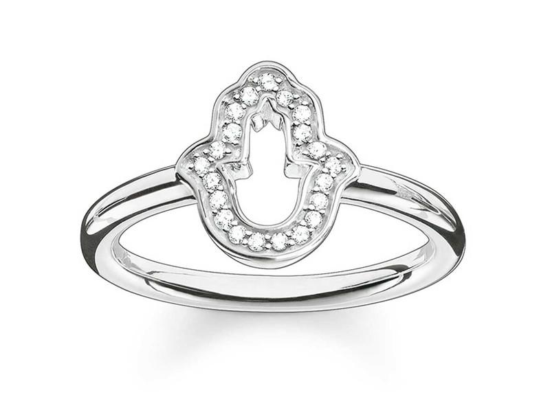 Product standard tr2076 051 14 54   thomas sabo   ts silver   cz hamsa hand ring    silver   4051245195323