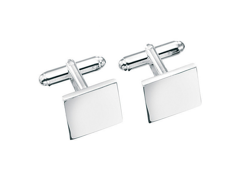Product standard v124   fourth avenue   our silver plain square cufflinks   silver   5055067185080