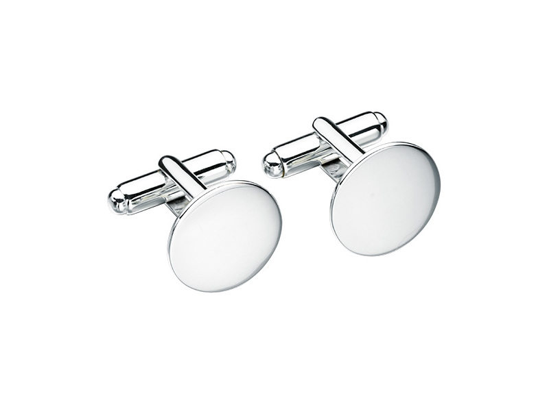 Product standard v452   fourth avenue   our silver plain round cufflinks   silver   5055067185356