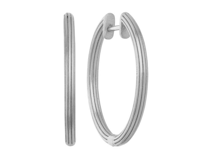byBiehl Large Silver Isla Hoop Earrings