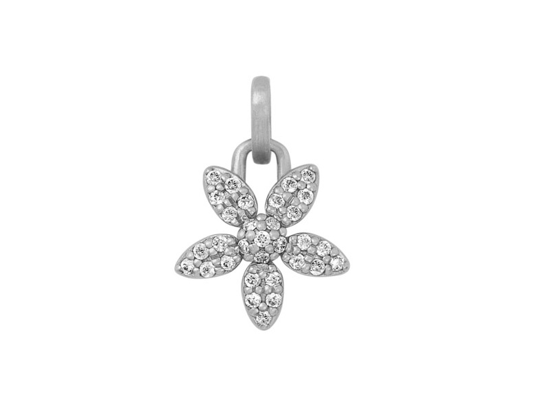 Product standard silver forget me knot sparkle flower pendant bybiehl