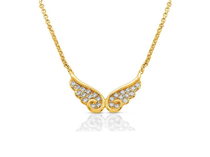 Product standard 145322 012 gold double wing necklace nomination italy