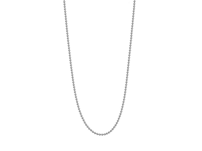 Product standard nec 01 80 mi moneda silver necklace ball chain