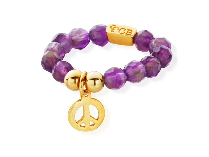 Product standard muc 40 s chlobo amethyst peace ring gold plated