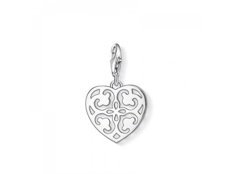 Product standard 1054 001 12 silver thomas sabo charm heart filigree pattern charm bracelet
