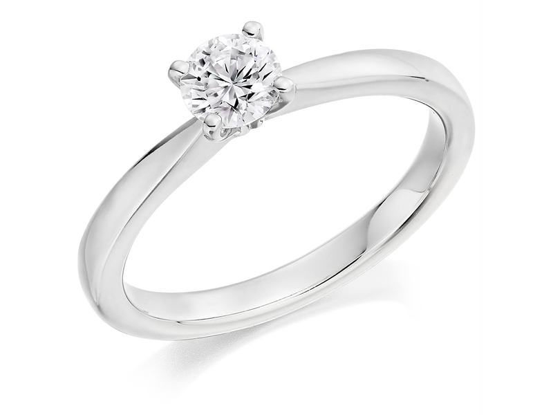 Product standard x2e3m1e5g0mt09   9ct gold 0.40ct brilliant diamond ring   diamond   solitaire   white gold   princess   fancy   dipples   engagement ring   perfect   best ring   norwich
