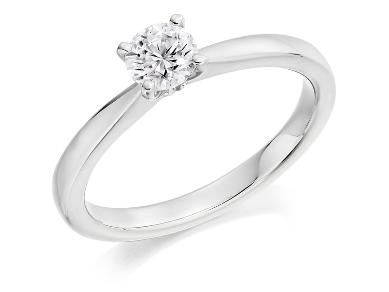 Product standard x2e3m1e5g1mt09   9ct gold 0.51ct brilliant diamond ring   diamond   solitaire   white gold   princess   fancy   dipples   engagement ring   perfect   best ring   norwich