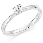 Palladium Affordable Certified 0.30ct Brilliant Cut Diamond Engagement Ring