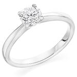 Palladium Affordable Certified 0.70ct Brilliant Cut Diamond Engagement Ring