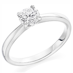 18 Carat Gold Affordable Certified 1.01ct Brilliant Cut Diamond Engagement Ring